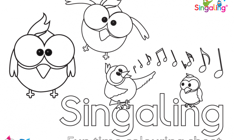 Download our Singaling Fun Time Colouring Sheet
